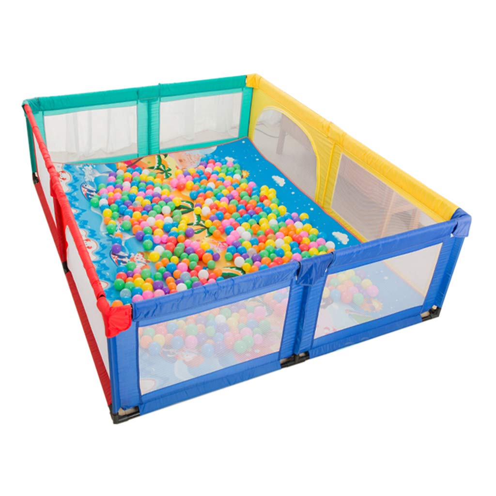 ベビーサークルベビーフェンス ベビーベビーサークル 幼児 家庭用飛散防止おもちゃ 子供用セーフティプレーヤー クロールマット 遊び場 (サイズ:200×250×70cm)   B07T4GC8QG