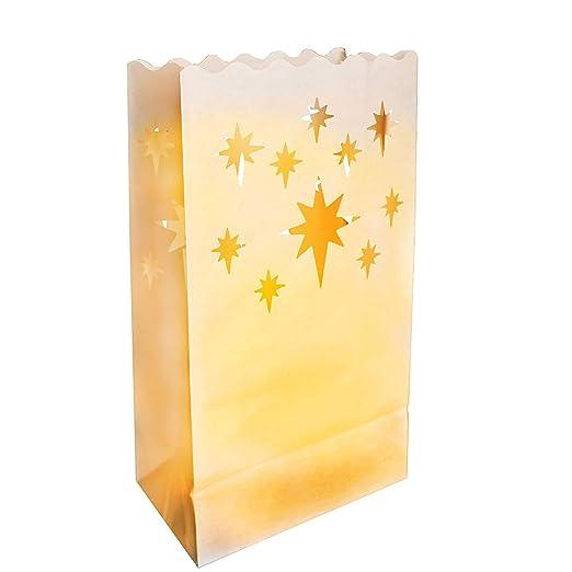 PK verde linterna de papel bolsas de vela - juego de 4 ...