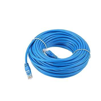 KKmoon Cable de Conexión de Red 66 PIES Cat5e 550MHz 10 Gbps RJ45 Cable de Red