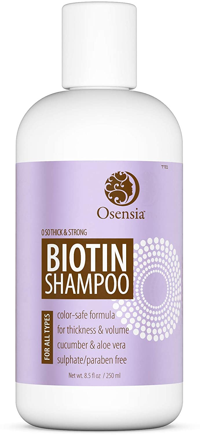 Thickening Biotin Shampoo for Hair Growth - Sulfate and Paraben Free Shampoo - Aloe Vera, Color Safe, Anti Hair Loss Shampoo Prevents Breakage, Boosts Thicker Hair by Osensia