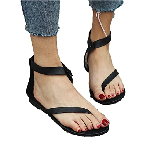 d7c8f8d822065e Brooklyn Walk Flip Flops Summer Women Flat Sandals Plus Size Beach Shoes  Female Buckle Strap Casual Gladiator Footwear for Girls  Buy Online at Low  Prices ...