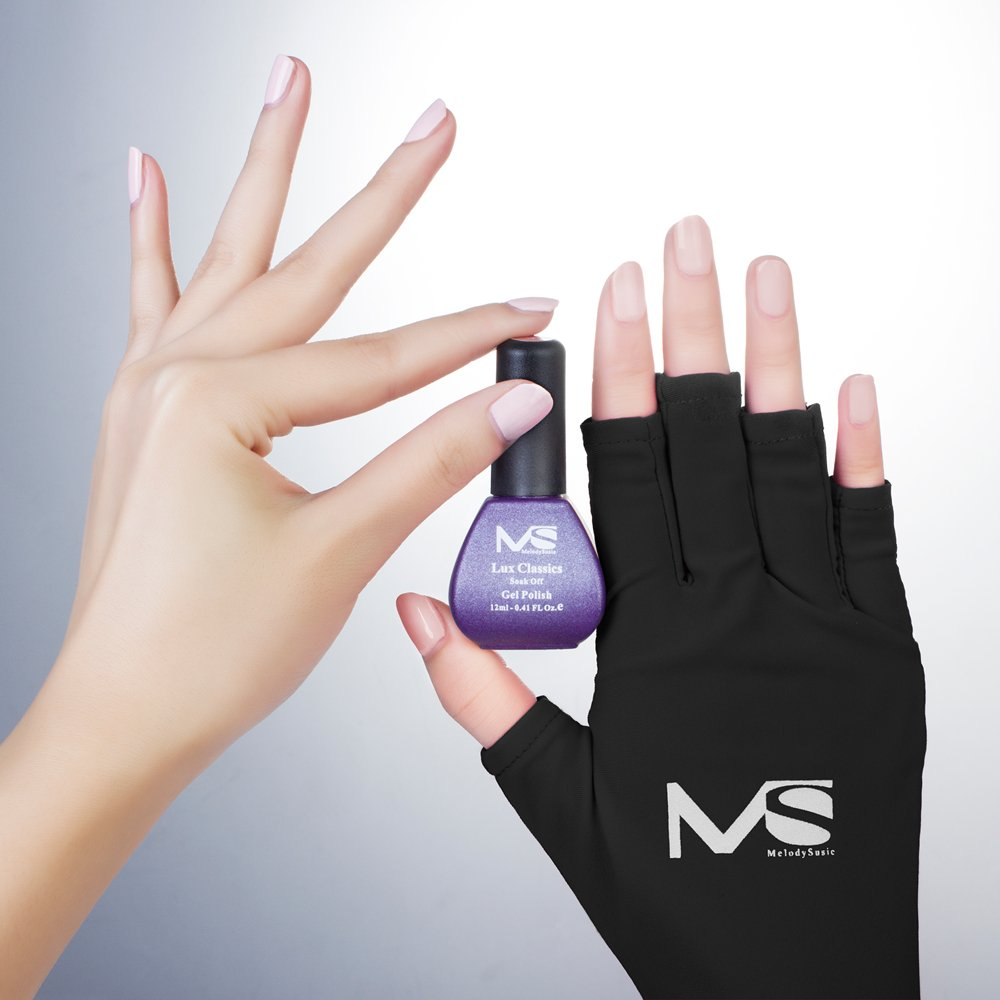 Hand Gloves Glove For UV LED Curing Lamp Nail Polish Gel Manicure ...