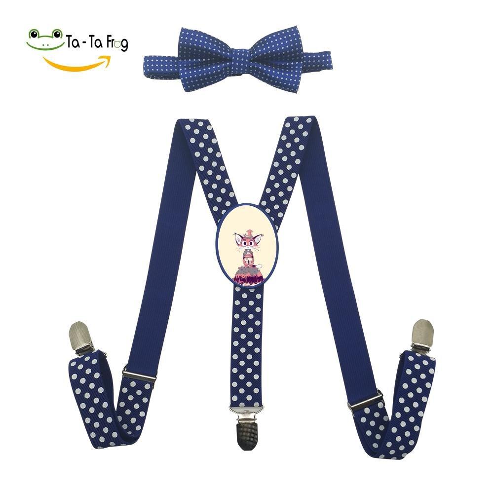 Xiacai A Cat Thing Suspender/&Bow Tie Set Adjustable Clip-On Y-Suspender Kids