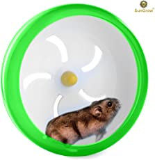 "SunGrow Hamster Spinner Wheel for Mouse and Small Pets - Durable, Comfortable Spinning Exercise Toy by As Quiet as Library - Convenient 7"" Diameter Perfect for Gerbils, Mice and Guinea Pigs"
