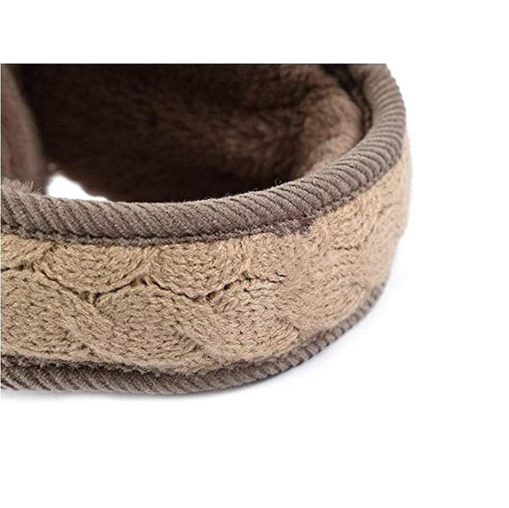 Adjustable Wrap Unisex Warm Knit plush Twist pattern Winter Pure Color Earmuffs Earwarmer