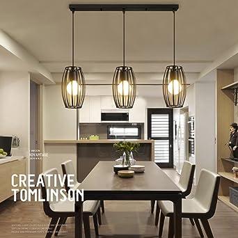 Fesselnd LEDNut Vintage Pendelleuchte 3er Set Kronleuchter Pendellampe Schwarz E27  Lampenschirm Für Küche Wohnzimmer Decken Schlafzimmer Hängeleuchte