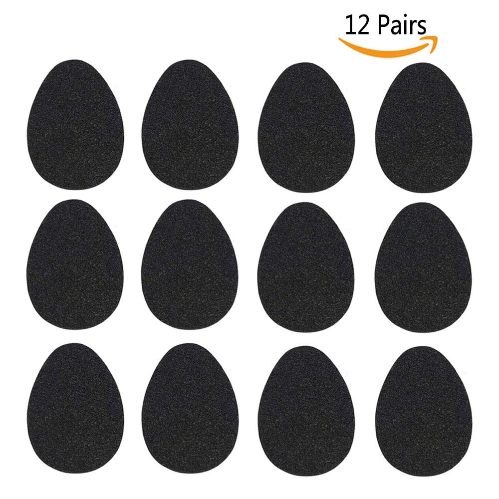 NeeQi 12 Pairs Anti-Slip Shoe Grips Self-Adhesive Rubber Non-Slip High-Heeled Shoes Sole Protector Pads Sticker