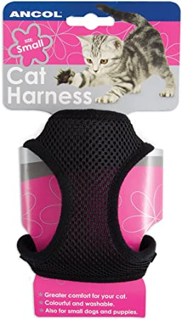 Ancol Soft Cat Harness and Lead Pink M