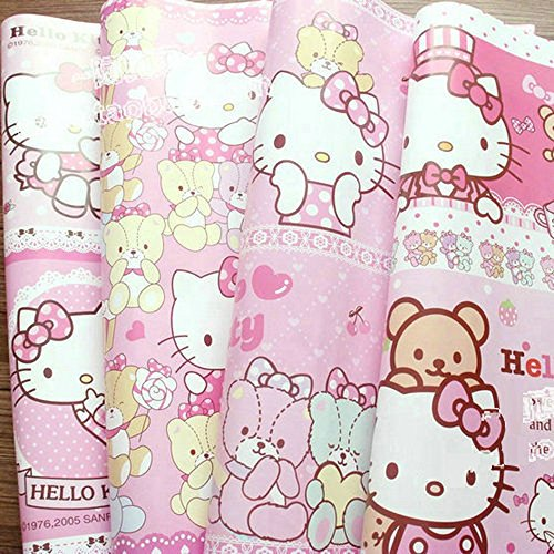 5 Piece Size 30 X 20 inches Hello Kitty Gift Wrapping Paper Background Wallpaper Dust Jacket Flowers Wrapping Paper FG100005