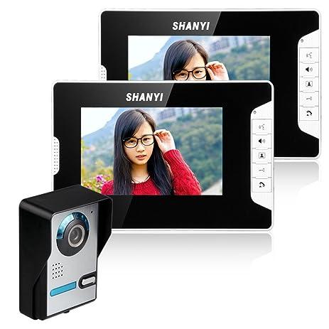 Ordinaire 7 Inches Smart Digital Video Wired Doorbell Door Phone Intercom With Camera  1 Camera 2 Monitor