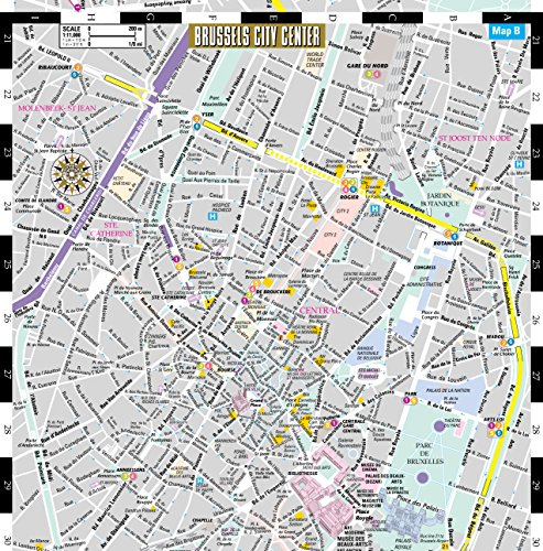Streetwise Brussels Map - Laminated City Center Street Map of ...