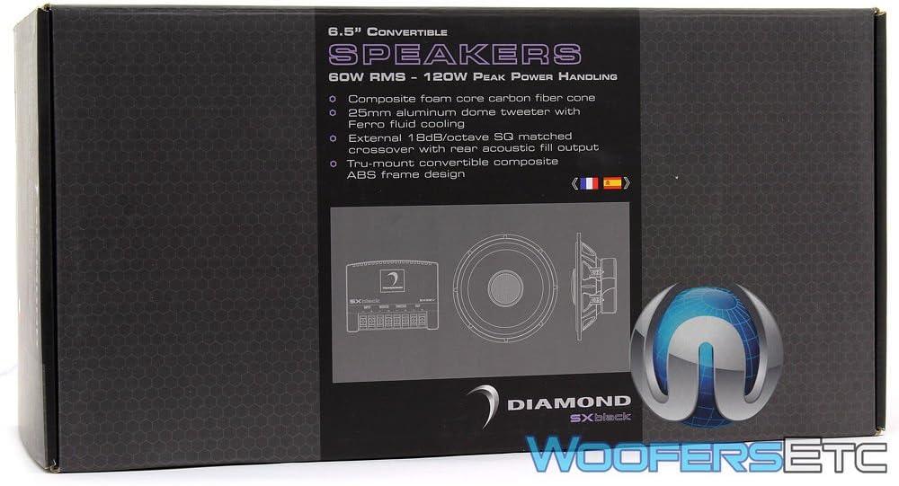 Diamond Audio Sx65v 6-1//2 Convertable Component Speaker System