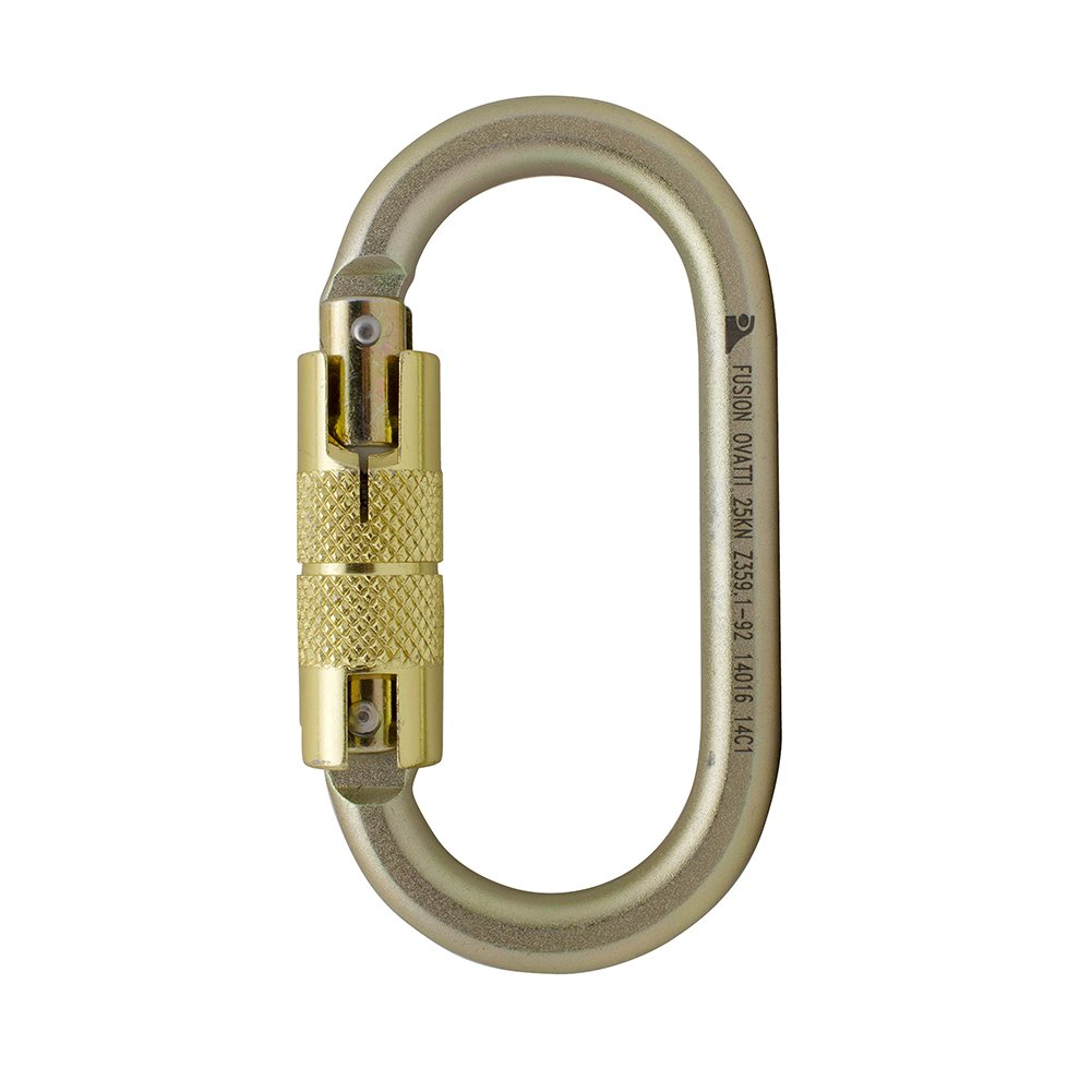 Fusion Climb Ovatti Steel Triple-Lock Oval-Shaped Carabiner