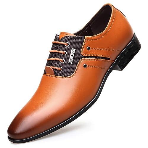 Hombres Zapatos Formales Primavera otoño Vestido de Boda Puntiagudos Mocasines Hombres Zapatos de Negocios: Amazon.es: Zapatos y complementos
