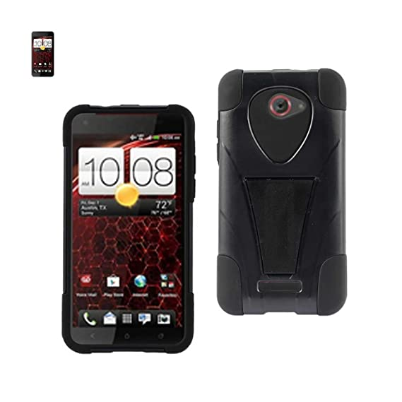 c18496f4a8672 Amazon.com: Reiko Wireless HTC Droid DNA Hybrid Heavy Duty Case with ...