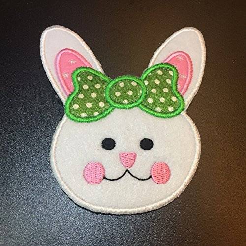 Easter Bunny Rabbit Embroidery Iron on Patch / Applique / Sewn On