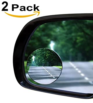 Amazon 2 blind spot mirror oval convex stick on rear view and 2quot blind spot mirror oval convex stick on rear view and real glass mirrors planetlyrics Image collections
