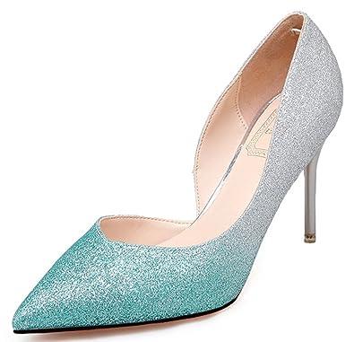 a3fe7f62da51 Gabor Shoes 5290 Damen Geschlossene Pumps, Easemax Damen Elegant Schleife  Hohle Spitze Zehe Nubuk Hohe Blockabsatz Pumps,EKS Damen Spitze High Heels  ...