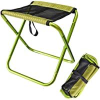 H JSHENLY Mini Folding Camping Stool, Lightweight Portable Camp Chair for Fishing, Outdoor, Hiking, Backpacking, Hunting, Travelling