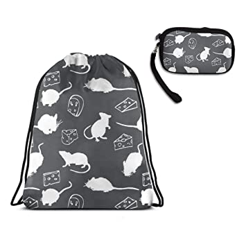 Amazon.com: Mochila con cordón para rata, queso, sombra, con ...