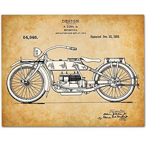 Harley Davidson Motorcycle   11X14 Unframed Patent Print