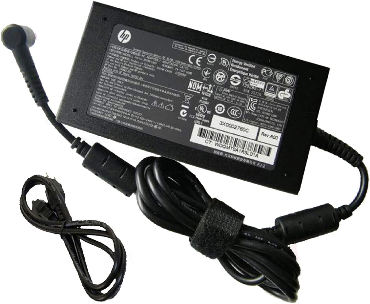 UpBright AC Adapter Compatible with HP 732811-002 A120A07DH 732811-001 732811-003 709984-001 Spare 710415-001 HSTNN-LA25 ADP-120ZB R33030 Omen Pro 15 Envy 17-n 17-R 15T-Q 19.5V 6.15A 120W Power Supply