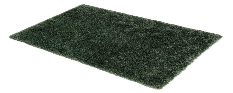 SCHÖNER WOHNEN, Pogo, hochwertiger Teppich, fusselfrei und antistatisch, 70 x 140 cm, moosgrün