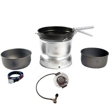 Trangia Set de hornillo 25-3 de aluminio con quemador de gas 2018 Hornillos de