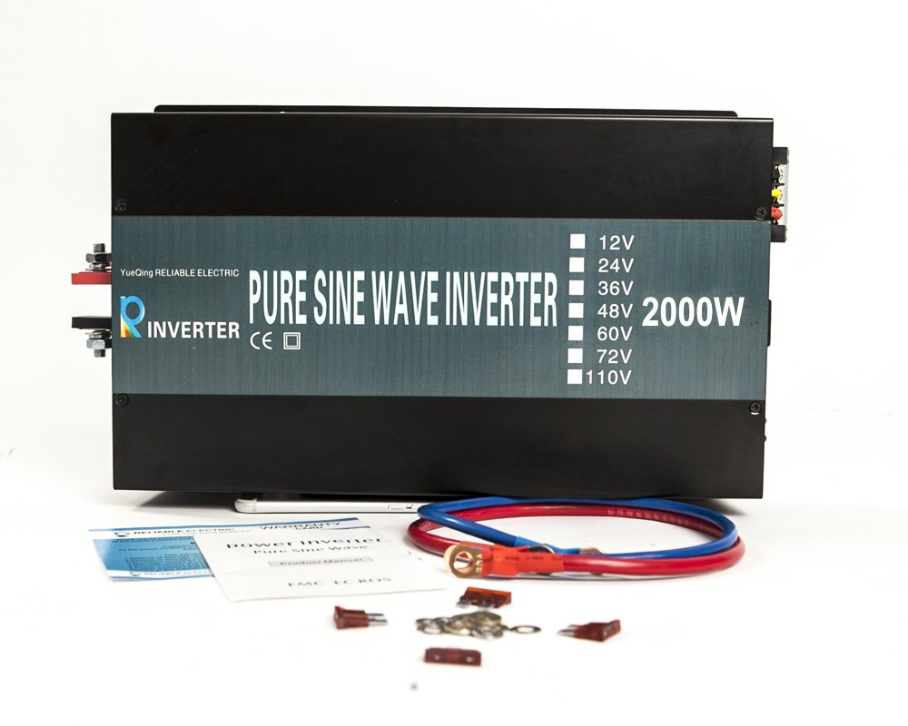 5. WZRELB Reliable 2000w Pure Sine Wave Inverter 12v 120v 60hz LED Display Solar Power Inverter (Black)
