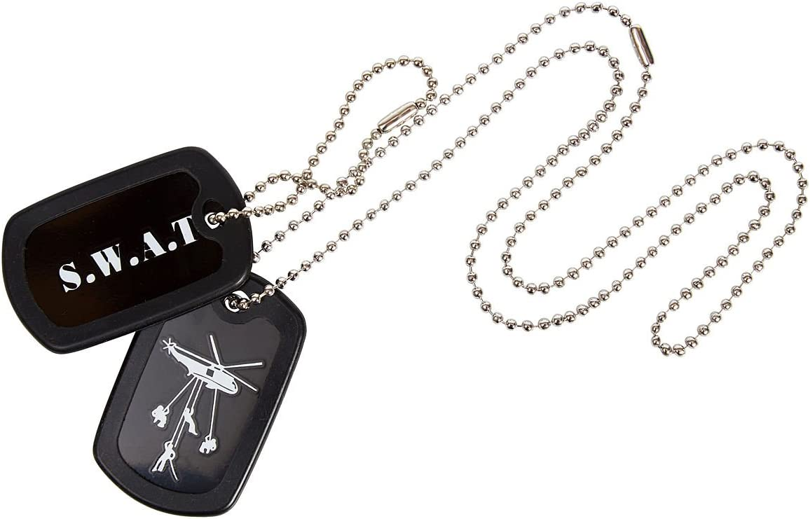 KAS 1123 Kids SWAT Dog Tags Stainless Steel with Chain-Police S.W.A.T Roleplay