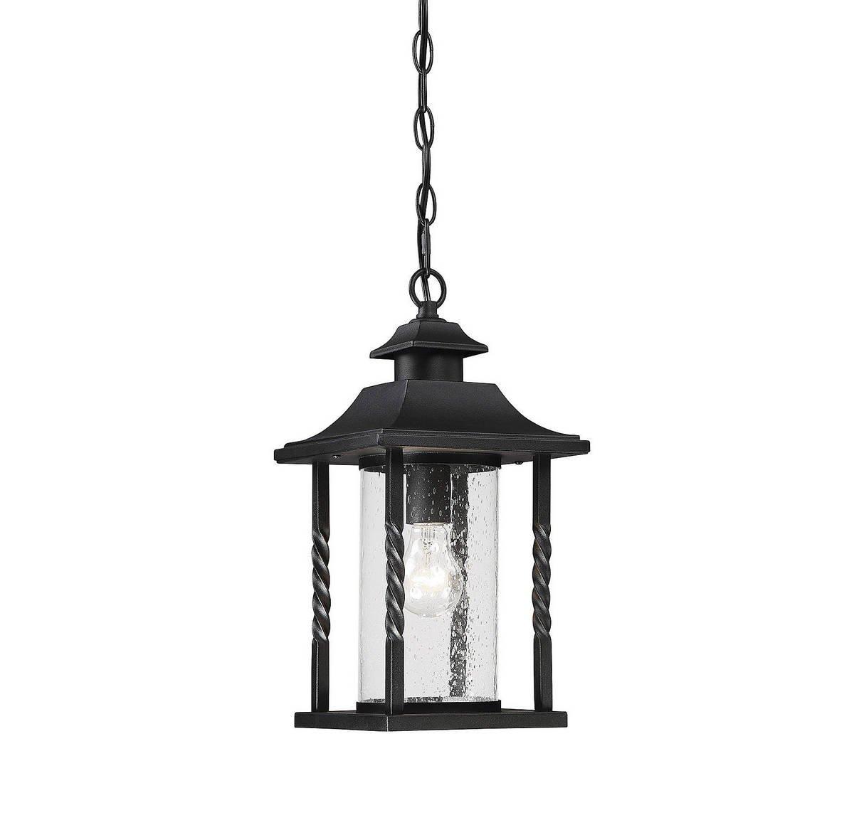 Savoy House 5-1232-BK Dorado Outdoor Hanging Lantern in Black by Savoy House