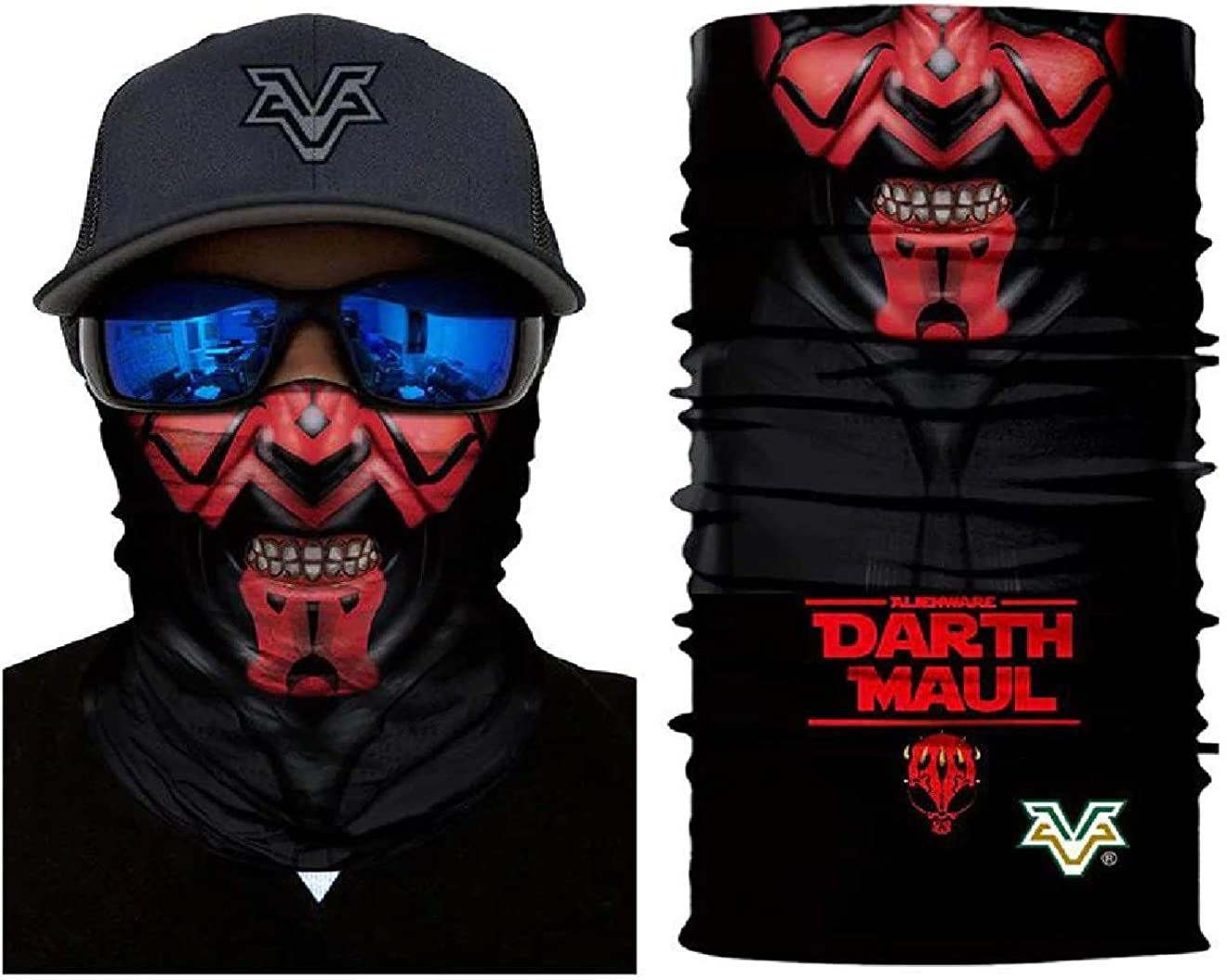 3D Balaclava Bandana Darth Maul Ray Park Face Red Masks Seamless Scarf High Elastic Head Band Wears Tube Neck Shield Sun No.347