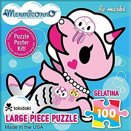 Re-Marks TokiDoki Mermicorno 100 Piece Cube Puzzle