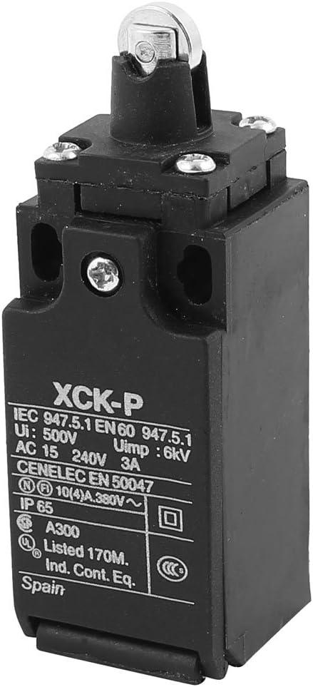 sourcingmap XCK-P Interruptor de fin de carrera del /émbolo de rodillo Paralelo AC 240V 3A