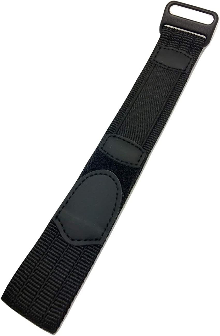 18mm Adjustable-Length, Black, Nylon Watch Strap | Heavy Duty, Hook and Loop, Sport Replacement Wrist Band for Men and Women