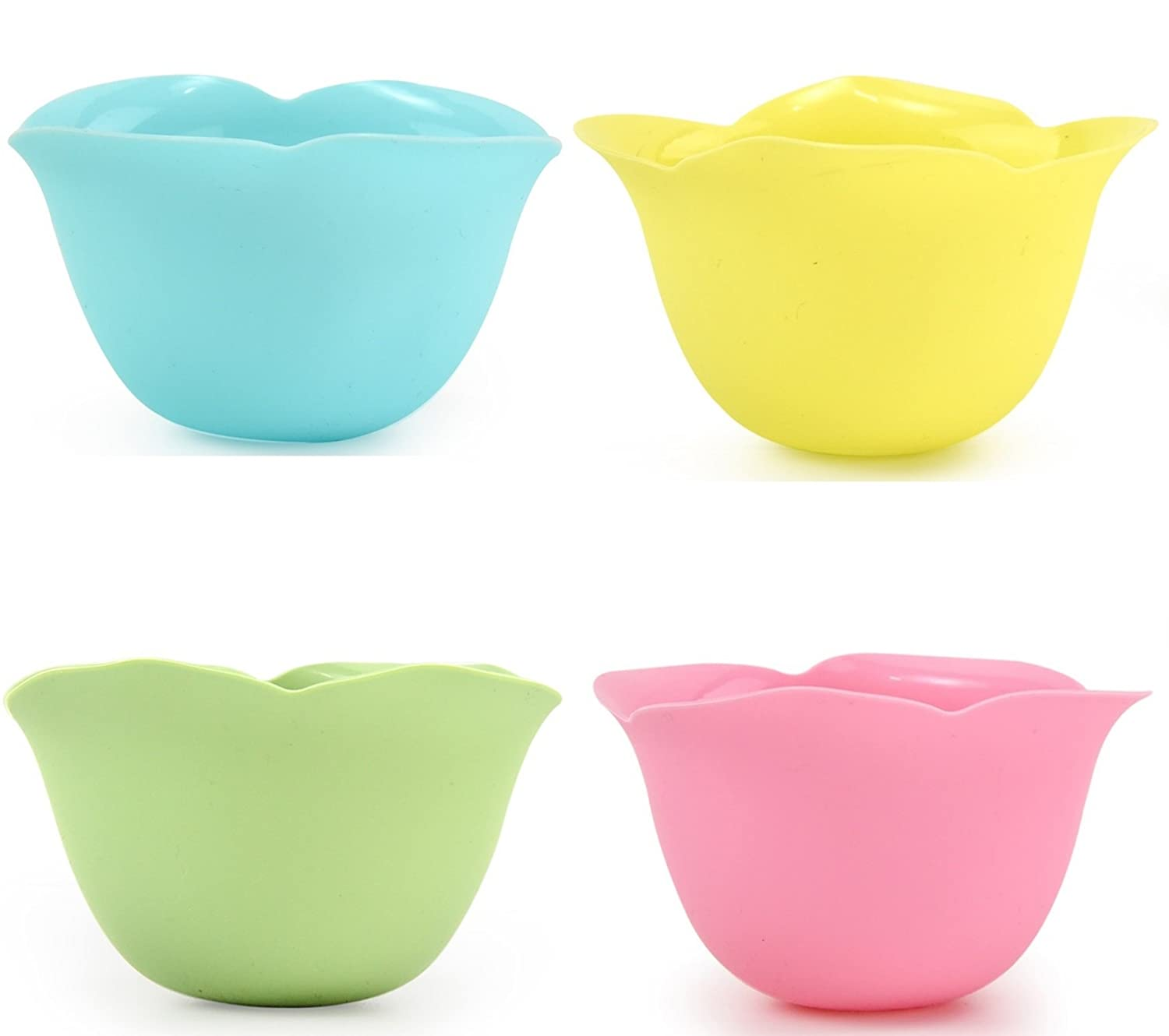 Perfect Poachers by Archer - Silicone Egg Poaching Cups - Stovetop or Microwave Egg Poacher - Dishwasher Safe Poached Egg Maker - Pack of 4 Nonstick Poached Eggs Cups - Pastel Colors - BPA Free Archer Kitchenware