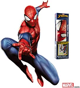 "Decalcomania Marvel Spider-Man 20"" x 28"" Wall Decal With 3D Augmented Reality Interaction"