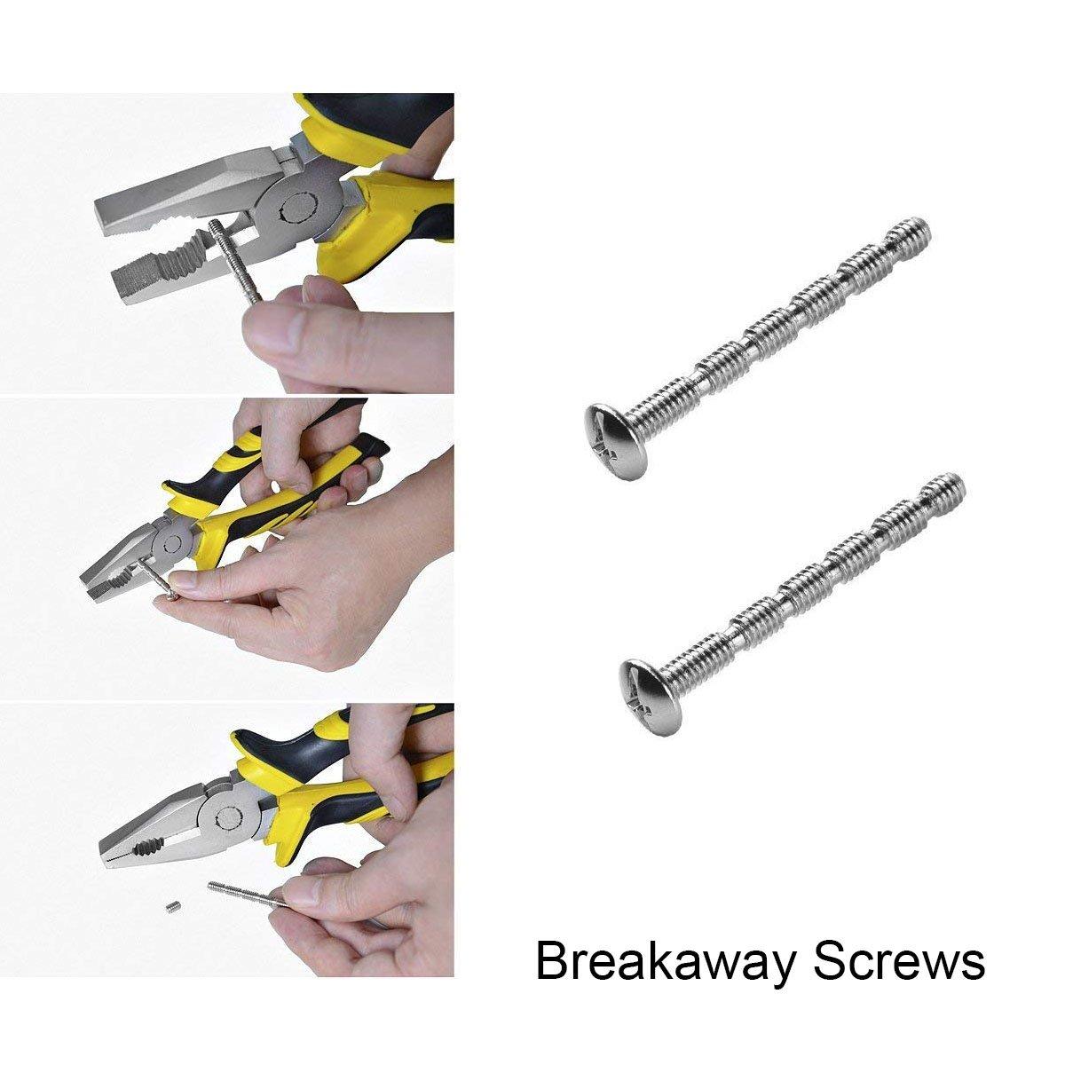 Gobrico Modern Square Single Hole Cabinet Kitchen Handle Pulls,Flat Black,2 Whole Length,10Pack