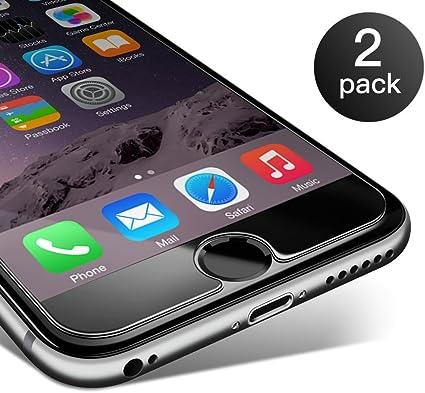 iPhone 6/ 6S Protector de Pantalla Coolreall 2 Pack Cristal Vidrio Templado transparente 9H Dureza 0.25 mm: Amazon.es: Electrónica