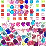Zeavola Self-adhesive Multicolor Flatback Rhinestone Sticker Bling Craft Jewels Crystal Gem Stickers,Assorted Size (250 Assorted Pieces)