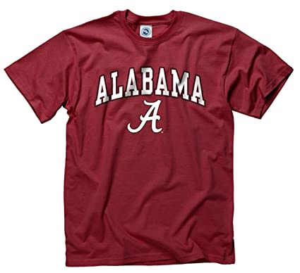 e54d2db7 Campus Colors Alabama Crimson Tide Adult Arch & Logo Soft Style Gameday T- Shirt -