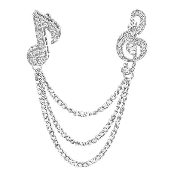White Music Quaver Note Treble Clef Fashion Neck Scarf Birthday Wedding Gift