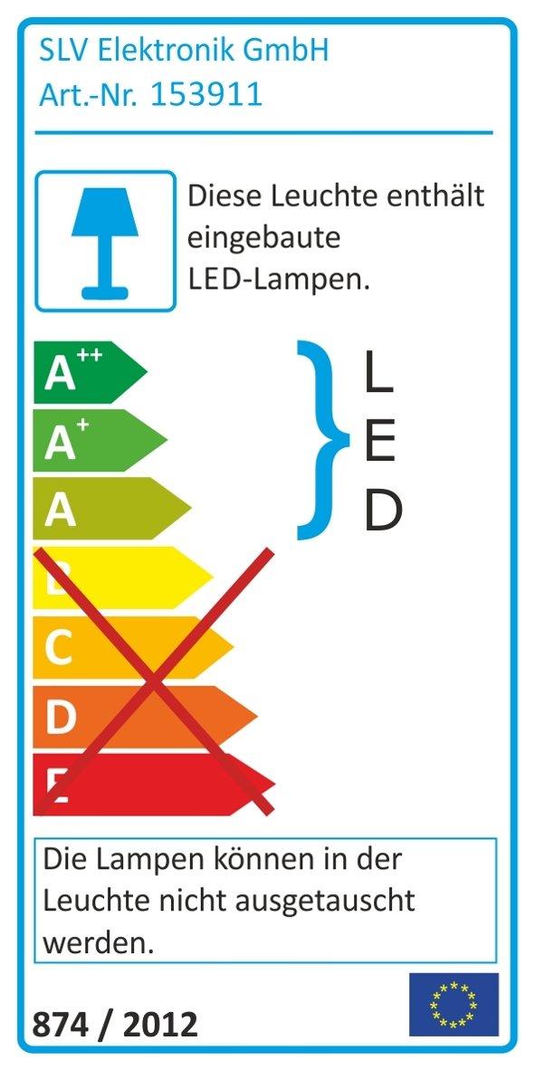 Strahler EURO SPOT INTEGRATED LED wei/ß EEK: A 2700K 3-Phasenadapter 24/° inkl