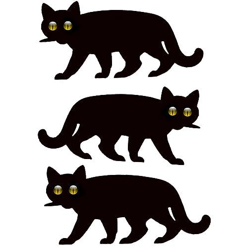 Gato Asustador De Jardín Con Ojos Reflectantes – 3x Gatos Asustadores