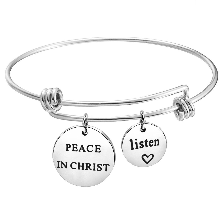 KUIYAI Peace in Christ Charm Bracelet 2018 LDS Youth Theme Gift