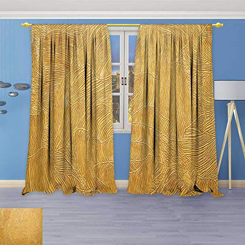 (SOCOMIMI 2778 Panel Set Digital Printed Window Curtains Background Texture Wallpaper welement of Design for Bedroom Living Room Dining Room 120W x 96L inch)