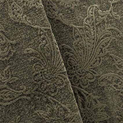 Amazon.com: Stone Gray Paisley Chenille Jacquard Home Decorating ...