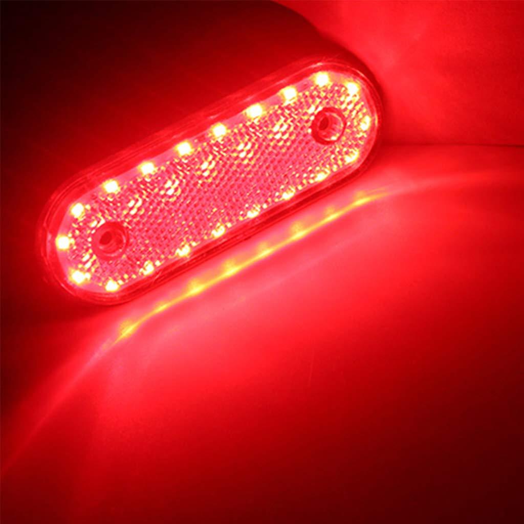 LIUXIA 10 Piezas de Luces de se/ñalizaci/ón Lateral para Remolque Caravana 20 Luces LED de Montaje en Superficie cami/ón