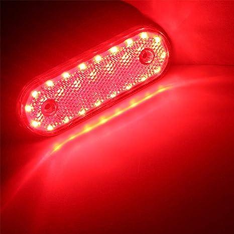 YeBetter 10X 20Led Luz de Marcador Lateral Amarilla 24V Led Luz de Separaci/óN Trasera Luces Traseras para Cami/óN Remolque RV Cami/óN Camiones de Recogida