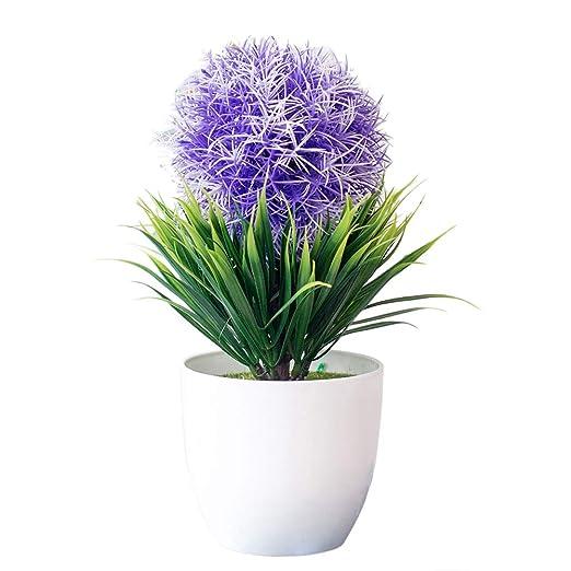 Whiie891203 Plantas Artificiales de Snapdragon, Ramo de Flores ...